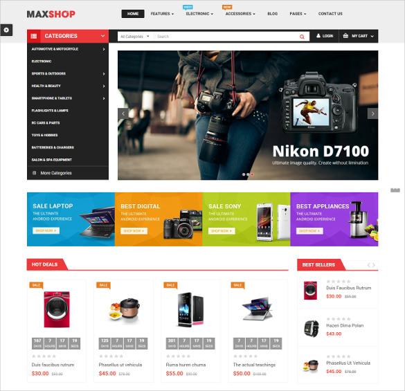 maxshop responsive multipurpose opencart ecommerce theme