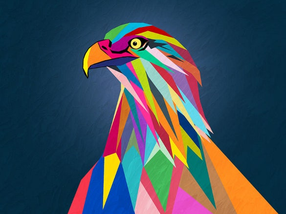 eagle geometric bird art download