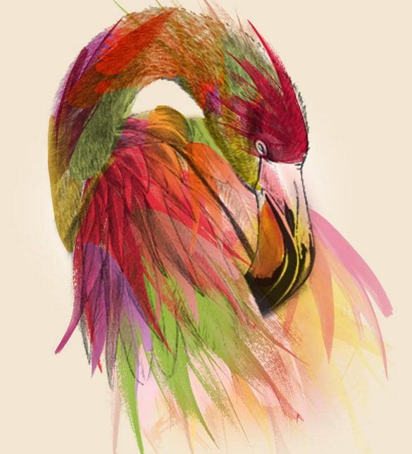 flamingo geometric digital art download