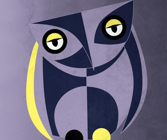 geometric owl bird design art download