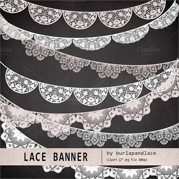 lace bridal shower banner
