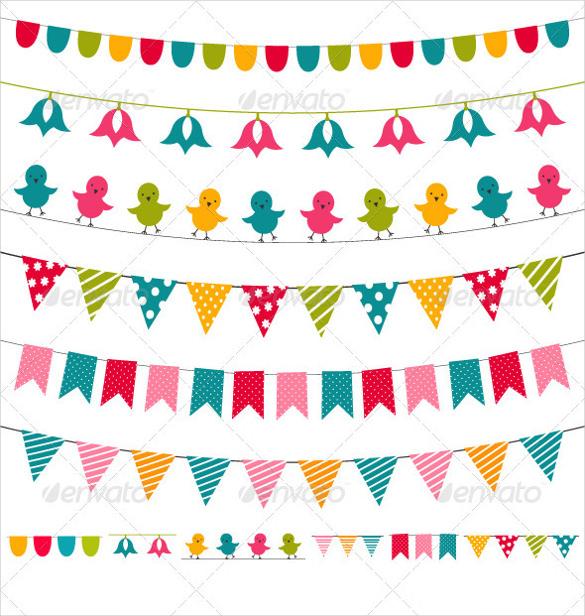 Шаблоны для гирлянды своими руками на день рождения 942