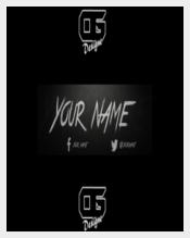 Black Backgound Youtube Banner