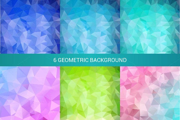 6 abstract geometric backgrounds eps format