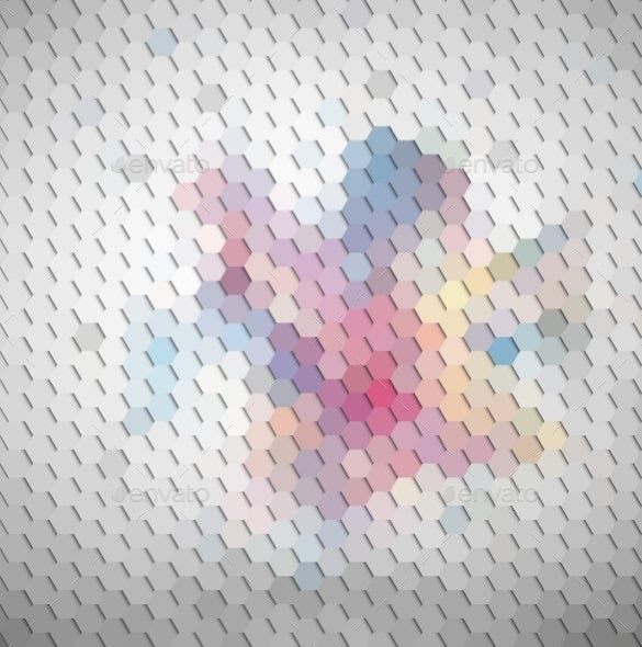 colorful geometric hexagonal background download