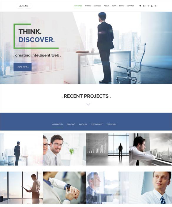 aklas clean creative drupal 8 theme