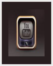 Vintage Youtube Icon