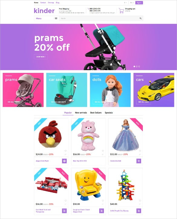kinder prestashop blog theme