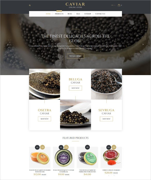 caviar shopify blog theme