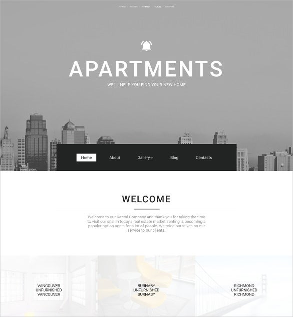 real estate agency responsive moto cms 3 blog template1