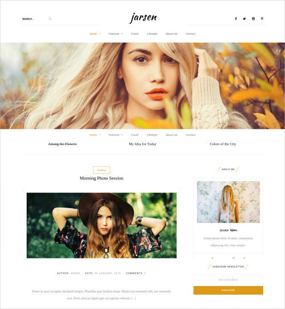 jarsen classic blog wordpress theme1