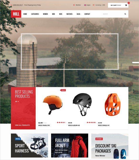hill premium responsive woocommerce blog theme