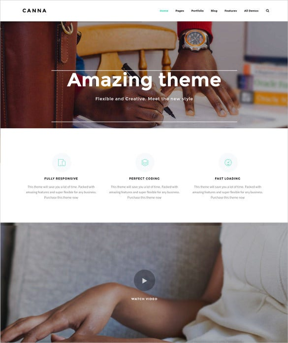 canna creative elegant wordpress blog theme