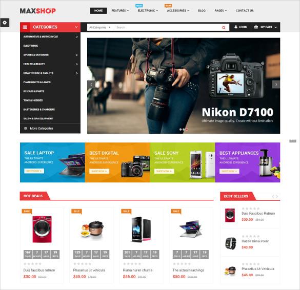 maxshop responsive multipurpose opencart blog theme