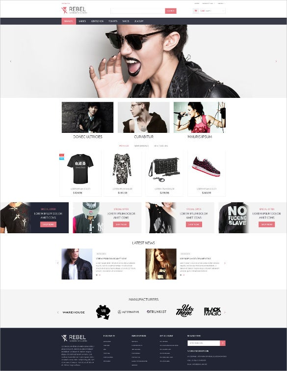 trendy fashion designer prestashop website theme