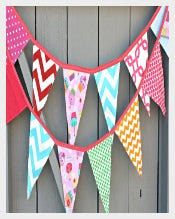 Fabric Pennant Banner Template Download