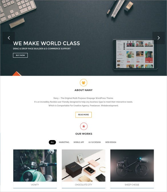 creative clean nany wordpress blog theme