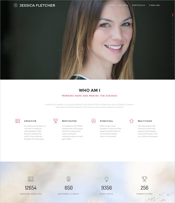fletcher personal wordpress blog theme
