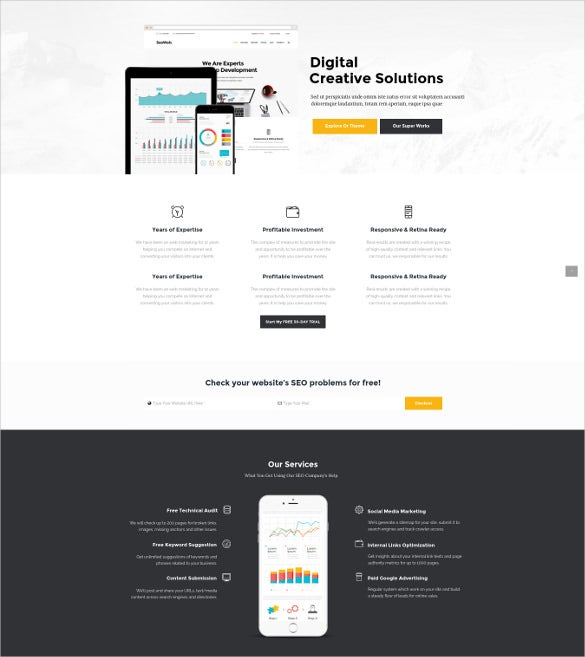 smartweb seo marketing wordpress blog theme