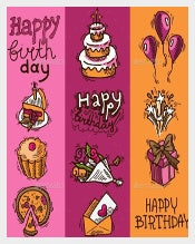 Bookmark Birthday Banner Template Download