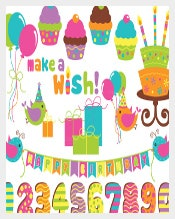 Cupcake Birthday Banner Template Download