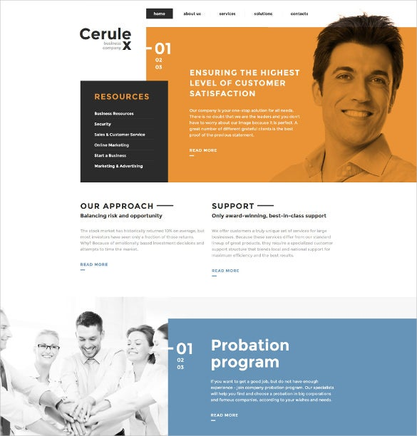 cerulex html5 website template