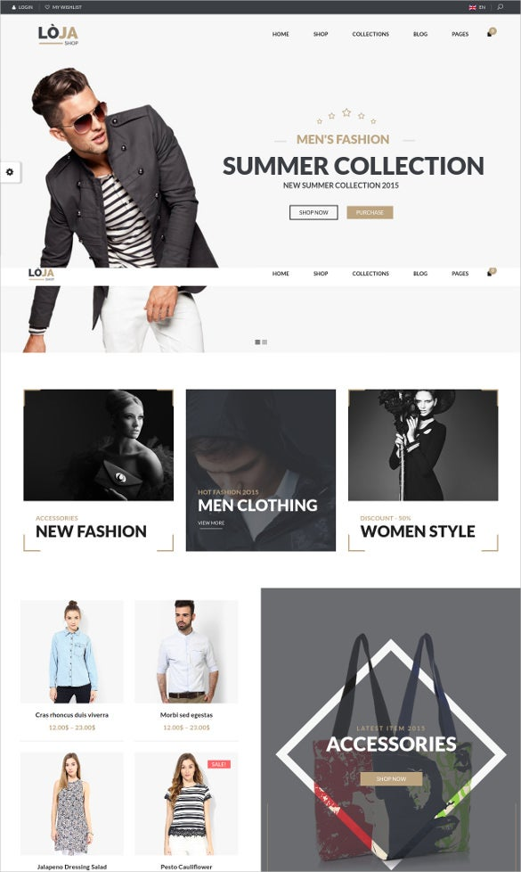 Fashion Designer Responsive Website Template