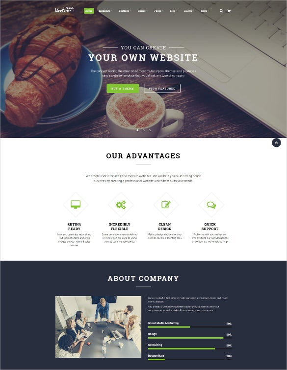 grand vector design studio multipurpose html5 website template