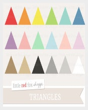 Printable Triangle Banner Template Download