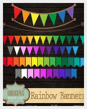 Rainbow Triangle Banner Template Download