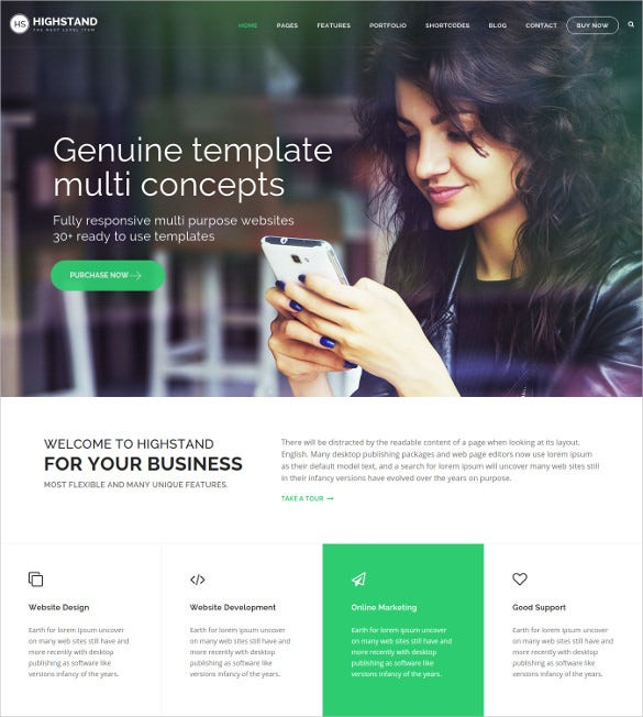 highstand responsive multipurpose html5 template