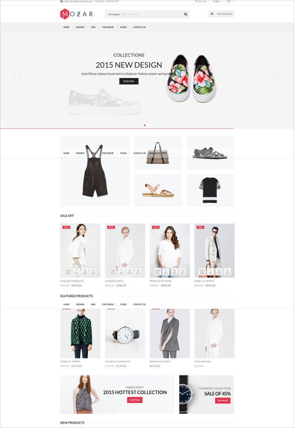 fashion clothing designer bootstrap website template