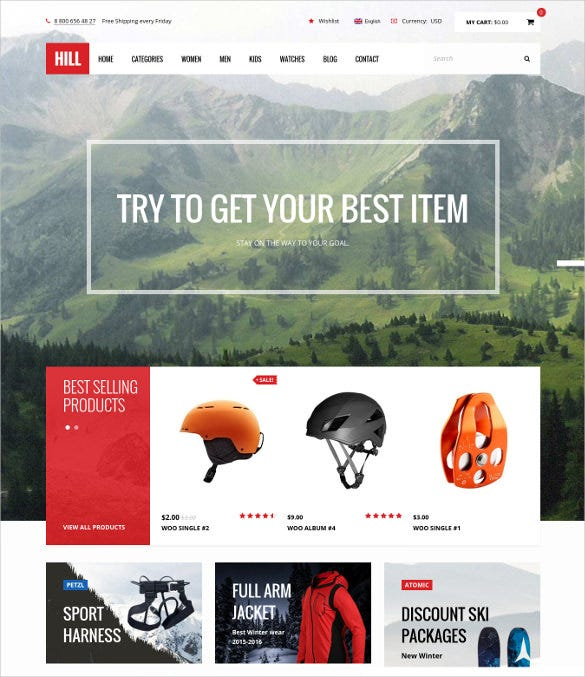 hill premium responsive woocommerce blog theme1