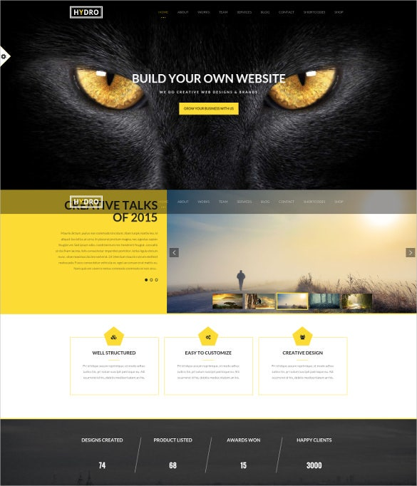 hydro multipurpose one page html5 wordpress theme