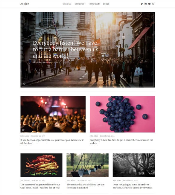 aspire news magazine clean html5 wordpress theme