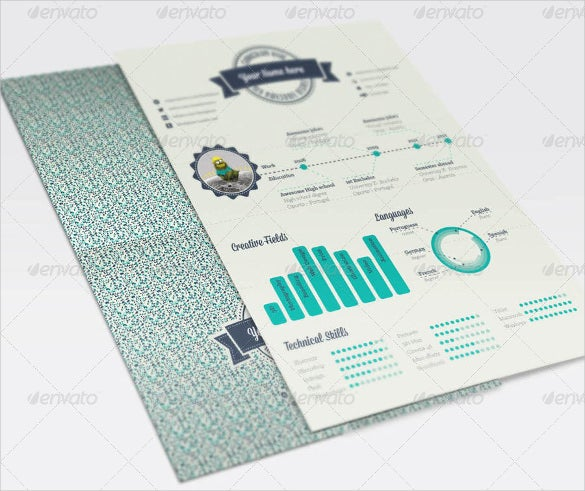 geometric infographic resume template eps sample download