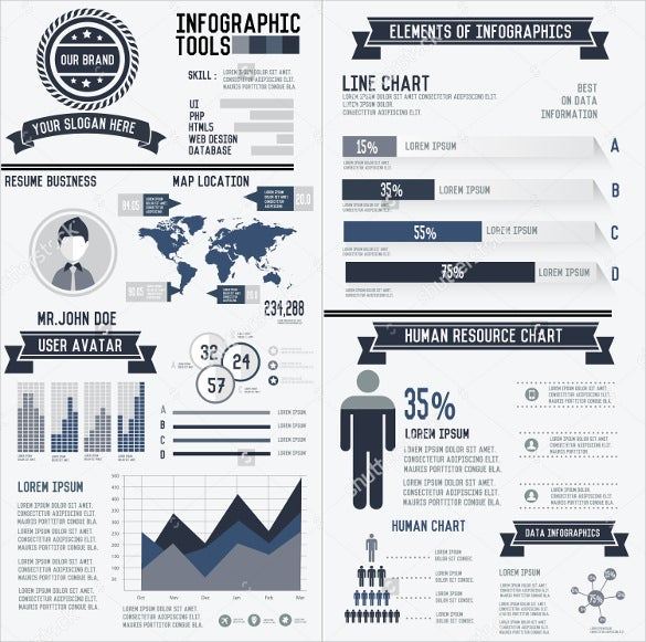 Infographic Resumes infographic resume template Download Corporate Infographic Resume Elements Data Template