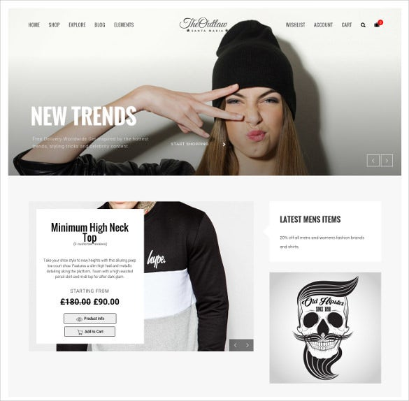 outlaw stylish woocommerce wordpress html5 theme
