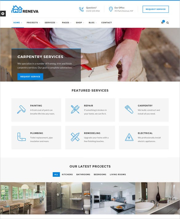 reneva construction renovation html5 template
