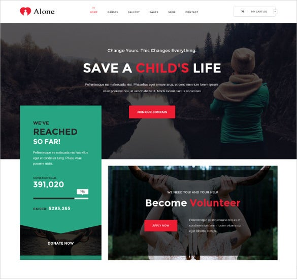 alone non profit multipurpose html5 template