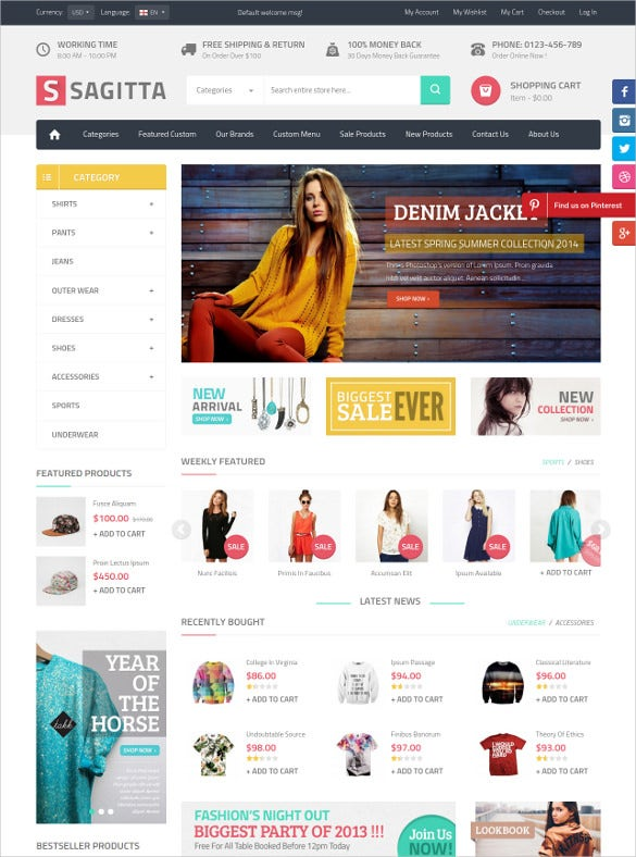 mega fashion store responsive magento website theme