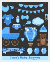 Clipart Baby Shower Banner Template Download