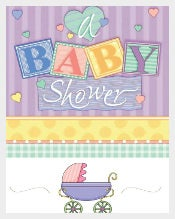 Designed Baby Shower Banner Download