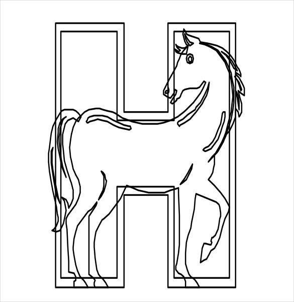 funny horse animal free pdf template download