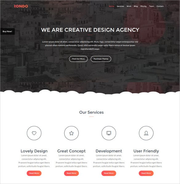 rondo responsive one page html5 template