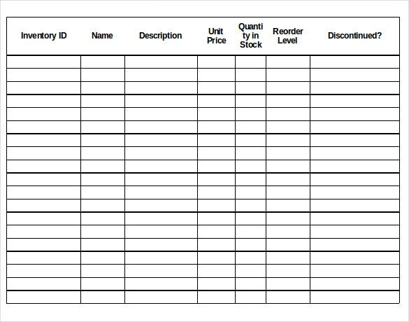 13+ Stock Inventory Control Template - Free Excel, PDF Documents ...