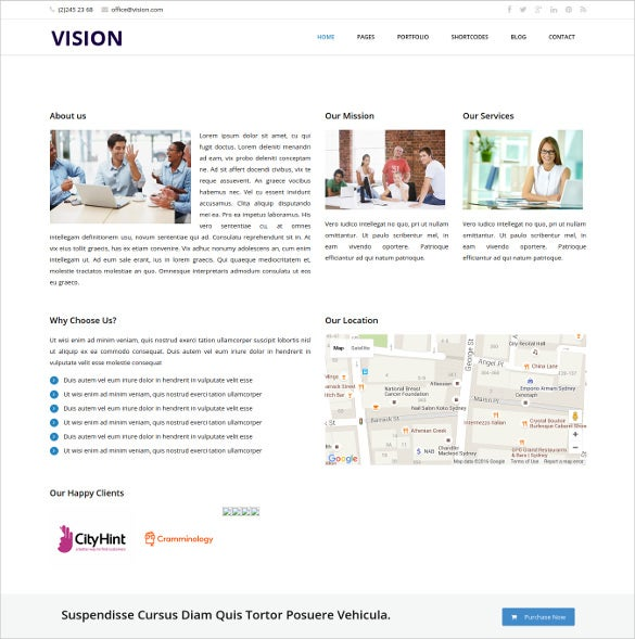 vision responsive html5 template