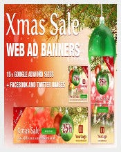 Christmas Sale Advertise Banner Design Download