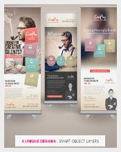 Creative Design Agency Roll-up Banners Template