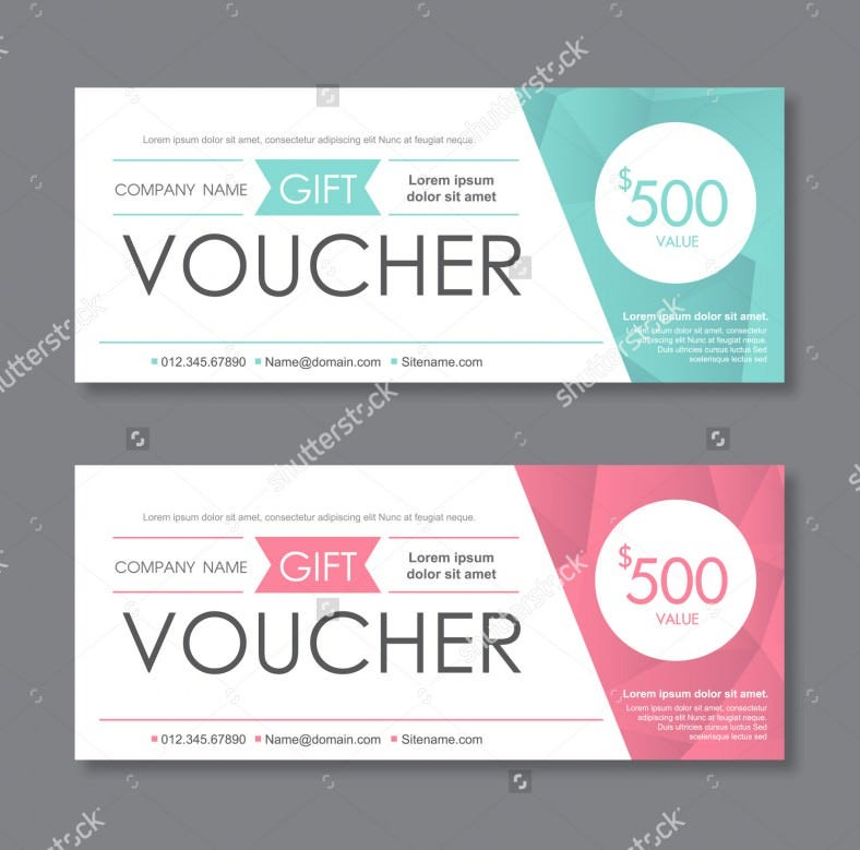 Vector Illustration Gift Voucher Template Download  Gift Vouchers Templates